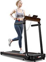 AOKCOS Folding Smart Electric Treadmill, Auto Stop Safety Function Treadmill with and LCD Monitor Great for Ho