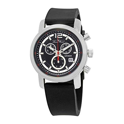 (Lucien Piccard Men's LP-12585-01 Toules Analog Display Swiss Quartz Black Watch )