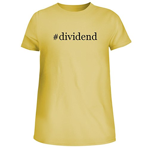 Dividends Forms (BH Cool Designs #Dividend - Cute Women's Junior Graphic Tee, Yellow, Small)