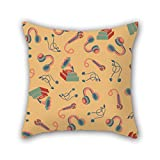 PILLO Colorful geometry pillowcover 20 x 20 inches / 50 by 50 cm for seat,bar,family,study room,kids room,car seat with 2 sides