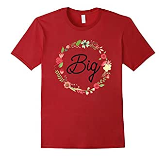 Mens Big Little Matching Sorority Sister Wreath Floral Shirt 2XL Cranberry