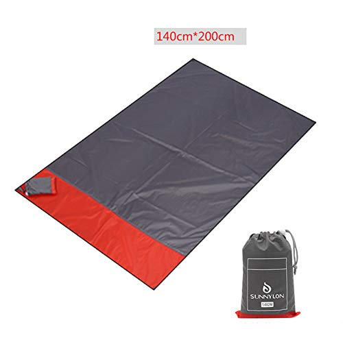 Sand Free Beach Blanket, Large Oversized for 4-6 Adults Beach Mat Quick Drying Lightweight Durable for Beach Camping Hiking Music Festival, Machine ()