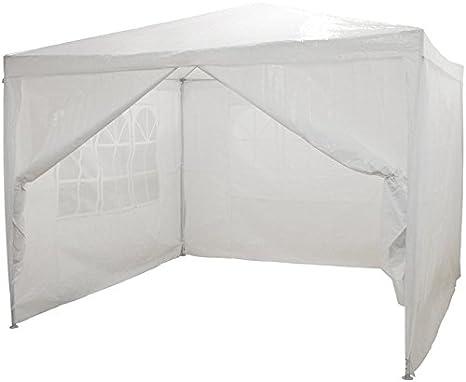 3 finestre copertura PE impermeabile LARS360 3 x 3 m Bianca Tenda esterno Tenda da giardino Padiglione Tenda birra Tenda gazebo con 4 pareti laterali 1 porte con cerniera