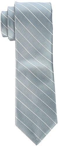 Calvin Klein Men's Striped Ties, Aqua, One Size