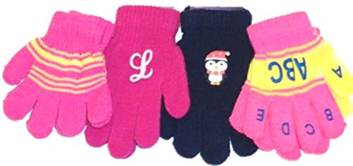 Set of Four Pairs of One Size Magic Gloves for Infants Ages 1-3 Years by Dylan