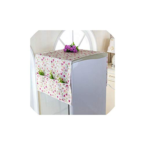 Dust Cover Printed Cotton Washing Machine Cover 2 Sizes Multipurpose Household Refrigerator Pocket Dust Proof Cover Home Textile Dust Cloth,Cover10216,75X168Cm
