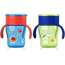 Philips Avent My Natural Drinking Cup 9oz, 2pk, Blue/Green, SCF782/55