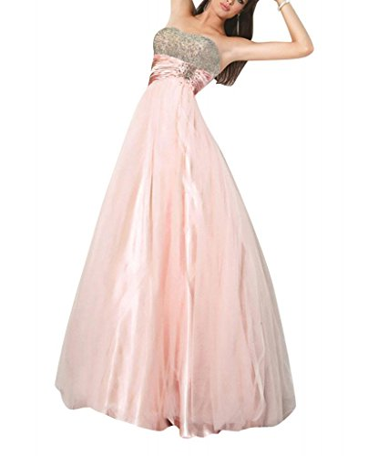 Abendkleid Mantel GEORGE Perlen mit Rosa BRIDE Spalte Liebsten Applikationen Rosa bodenlangen ZxRqFxa
