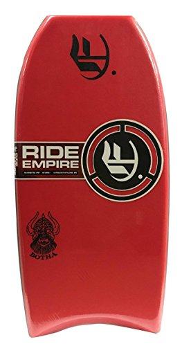 Empire Bodyboards Mini Botha PE Bodyboard, 32″, Red