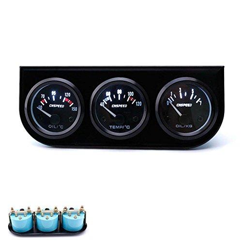 ExGizmo 52mm Triple Gauge 3 in 1 Voltmeter Water Temp Temperature Oil Pressure Car Meter Auto Sensor by ExGizmo (Image #1)
