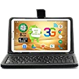 IKALL N9 Tablet (7-inch,1 GB, 8 GB, Wi-Fi + 3G), White with Keyboard