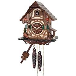 River City Clocks One Day cuckoo Clock Cottage with Deer, Tree and Water Pump