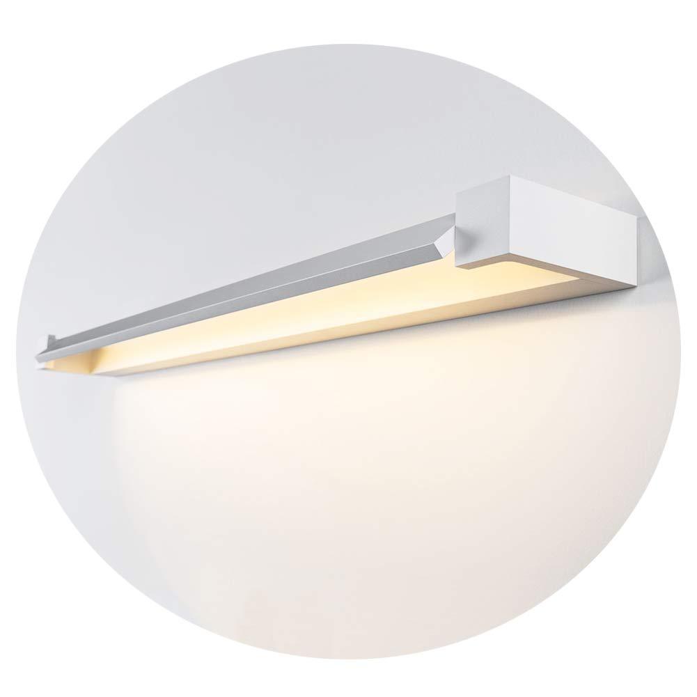 Ralbay 12W Luci da specchio, Lampada da specchio a led, Lampada da bagno, Luce da make up, Luce da armadio, Bianco neutro 4000~4500K, 110~220 V, IP40, lunghezza prodotto: 45 cm