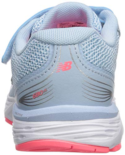 New Balance Girls' 680v5 Hook and Loop Running Shoe, air/Guava, 2 XW US Infant by New Balance (Image #2)