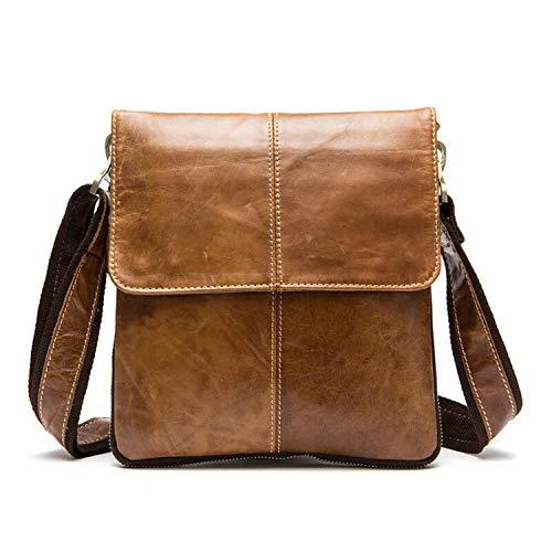 Messenger Bag Men's Genuine Leather shoulder bag Crossbody Bags handbags 8006,8006brown,China ()
