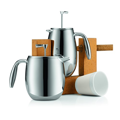 Bodum COLUMBIA Coffee Maker, Thermal French Press Coffee Maker, Stainless Steel, 34 Ounces