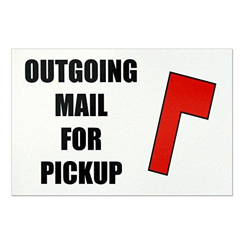 Outgoing Mail For Pickup Magnet - Magnetic Mailbox Flag Replacement - Size -