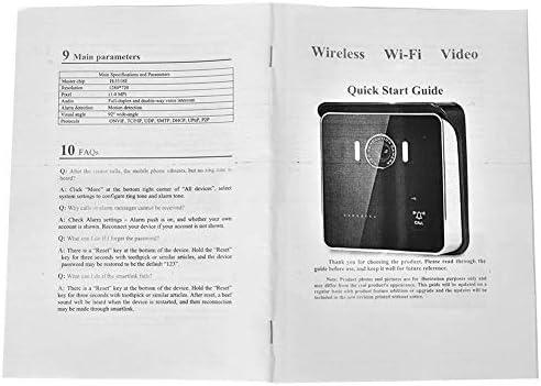 ドアベル、HDワイヤレスWIFIスマートビデオドアベルモーション検出ホームセキュリティアラーム、防水ドアベル(英国)