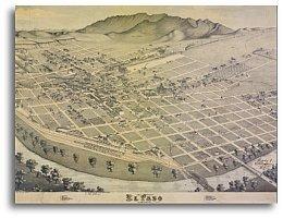 El Paso 1886 by Augustus Koch - Paso El Texas Store