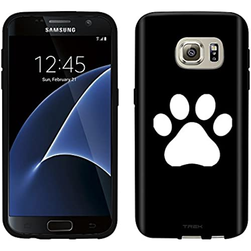Samsung Galaxy S7 Case, Snap On Cover by Trek Paw Print on Black Case Sales
