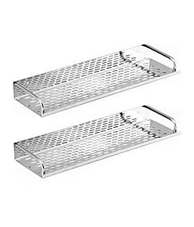 SBD™ Multi Purpose Stainless Steel Shelf (15x4.5) inch Chrome Finished (Pack Of 2)