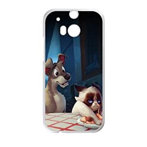 HTC One M8 Cell Phone Case White grumpy cat disney JNR2194745