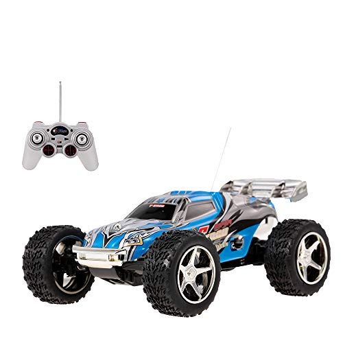 DeXop 2WD 1:32 Scale Remote Control Racing Car High Speed Vehicle RC Car (Blue) ()