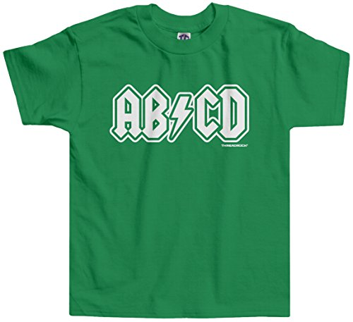 Threadrock Little Boys' ABCD Toddler T-Shirt 4T Kelly Green