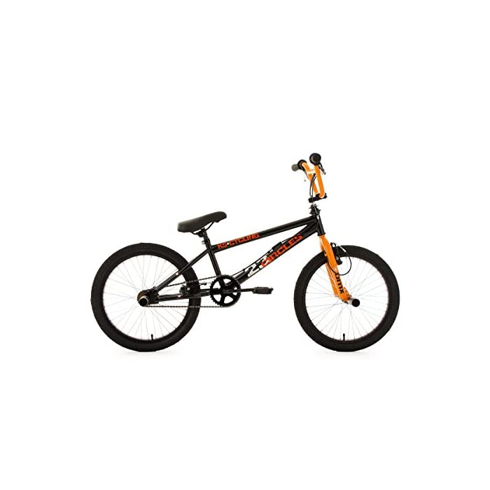 KS Cycling BMX Freestyle Circles – Bicileta BMX , para todas las medidas a partir de 135 cm, color naranja