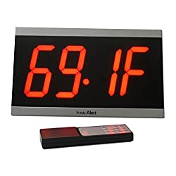 Sonic Alert Big Display Max, Black/Red