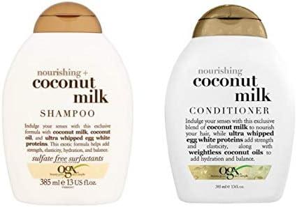 ogx voorheen Organix Nourishing Coconut Milk Shampoo 385 mlConditioner 385 mlLuxe diepe verzorging voor gekleurd haar