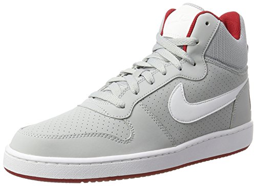 NIKE Herren Court Borough Mid Basketballschuhe Wolf Grau / Weiß / Gym Red