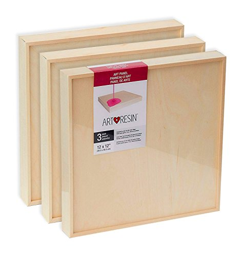 ArtResin - Wood Art Panel (Gallery Size) 3 Pack - 12 x 12'' by ArtResin