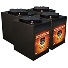 QTY 4 VMAX V6-225: 6.2kWh 24V AGM Solar Battery Bank for Home, RV, or Industrial (4) 6V 225Ah AGM Deep Cycle Batteries 6 Volt Maintenance Free