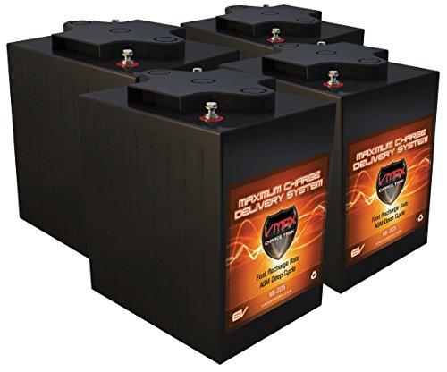 QTY 4 VMAX V6-225: 6.2kWh 24V AGM Solar Battery Bank for Home, RV, or Industrial (4) 6V 225Ah AGM Deep Cycle Batteries 6 Volt Maintenance Free by VMAXTANKS