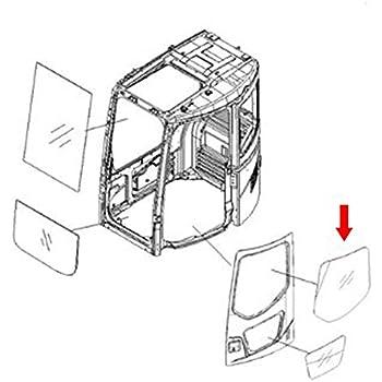 Amazon Com 20y 54 51272 Rear Cab Window Glass Made For Komatsu