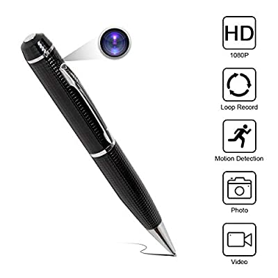 Yumfond Hidden Spy Pen Camera HD 1080P Portable Digital Video Recorder with Photo Taking, USB Port Covert Cam, Wireless Mini DV Cam Multifunction Ink Pen Camcorder for Conference and Home (Video Only) from Yumfond