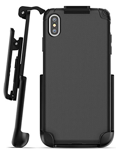 Encased iPhone Xs MAX Belt Clip Holster Case, Ultra Thin Grip Protective Cover with Belt Holder for Apple iPhone Xs MAX Phone (Nova Series) Black