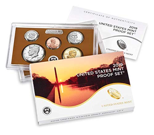 (2019 S US Mint 10-coin Clad Proof Set GEM With Box and COA)