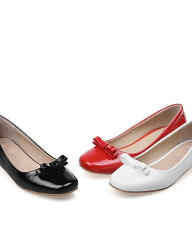 cn43 us10 4 red 5 ZQ Punta Planos 5 5 Bajo us10 Blanco Negro de eu42 Tacón Rojo Casual uk8 red eu42 cn43 uk8 Semicuero white 5 2 uk2 cn33 eu34 5 mujer Redonda us4 5 Zapatos rqnHAw6r