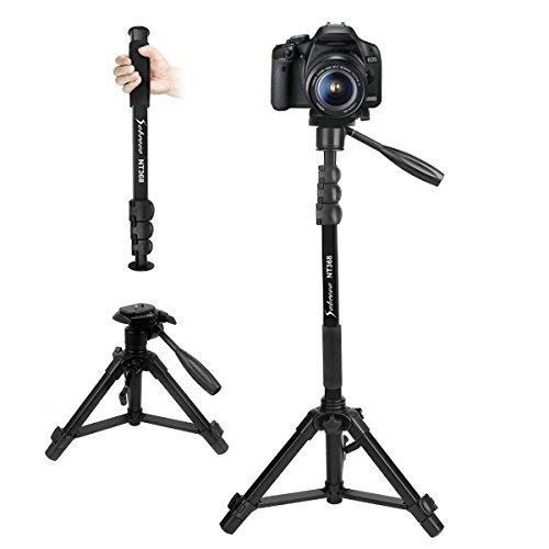 """Camera Monopod 70"""" Removable Aluminum Telescoping Camera Tri"""