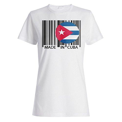 Gemacht in kuba reise welt lustige neuheit Damen T-shirt uu32f
