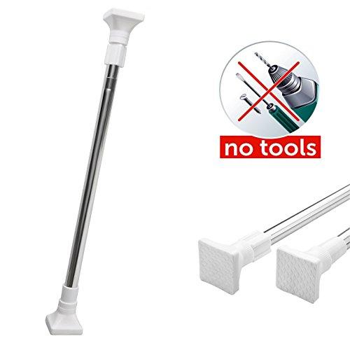 Tension Rod, Taoxi Extendable Telescopic Stainless Steel Seamless Adjustable Telescopic Shower Window Curtain Tension Window Rods Closet Rod,Bathroom Hanging Rod (70~124cm)