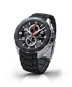 Time Force TF3328M14 - Reloj de caballero de cuarzo, correa de silicona color negro