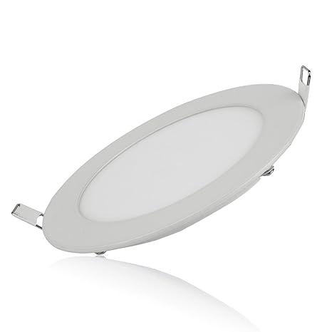 W Lampe Fine Led Panneau Plate 9 À Encastrer Ronde Lumière Ultra 80wmNvn