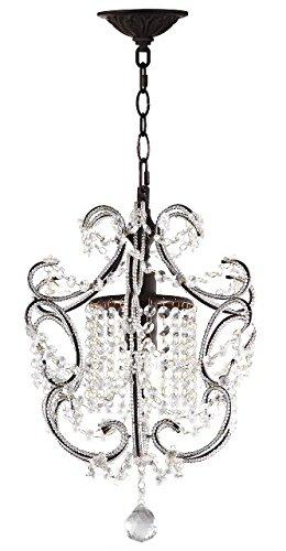 Safavieh Lighting Collection Luna Chandelier 12-inch Brown