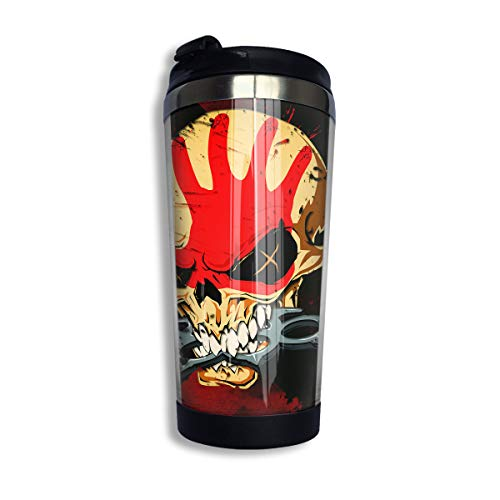 Stainless Steel Coffee Mugs Five Finger Death Punch Travel Coffee Thermal Mug 10 Oz (400ml) Insulated Cup Perfect for Travel, Camping, Hiking, The Beach and Sports