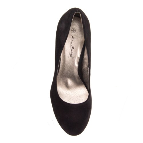 para Black Spot de negro de On tela vestir Red mujer Zapatos ngnATqY