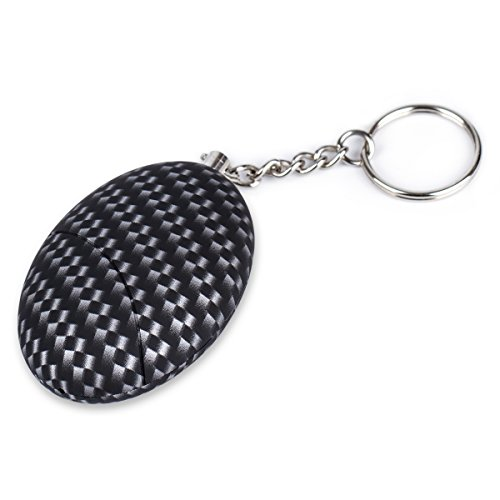 Safe Sound Personal Alarm, 120db Personal Safety Alarm Keychain for Women, Kids, Siren Song Alarm Keychain for Women, Elderly, Children By XORXL (Grid+Black)