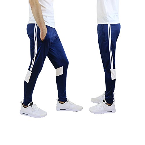 Galaxy by Harvic Mens Athletic Soccer Training Sweat Track Pants